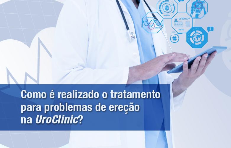 Como é realizado o tratamento para problemas de ereção na UroClinic?